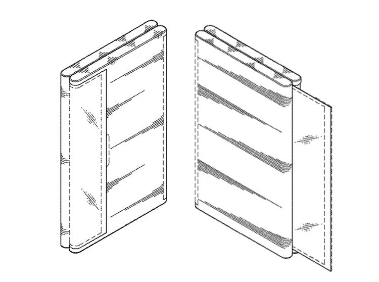 Samsung: патент на смартфон с необычным гибким дисплеем Samsung  - dd3
