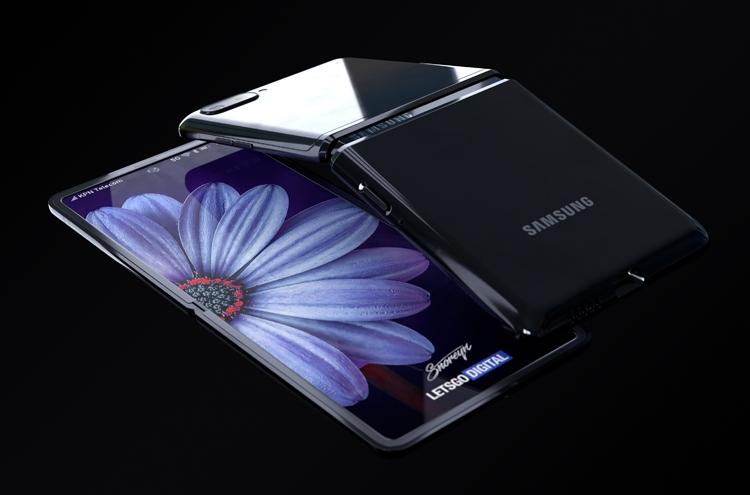 Samsung Galaxy Z Flip с гибким экраном. Рендеры Samsung  - flip2