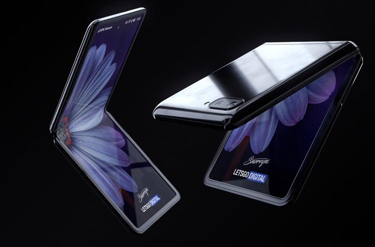 Samsung Galaxy Z Flip с гибким экраном. Рендеры Samsung  - flip3