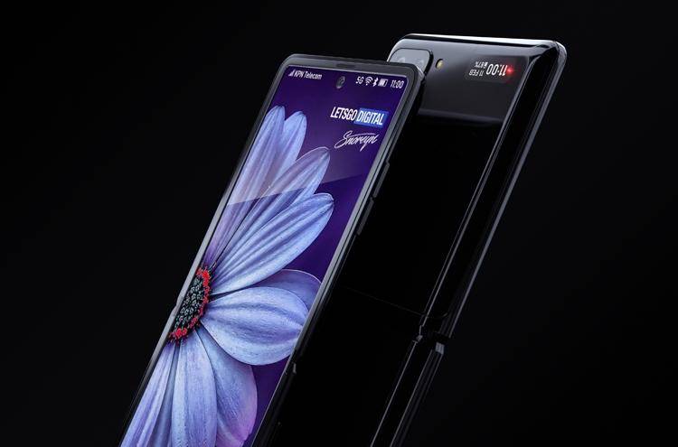 Samsung Galaxy Z Flip с гибким экраном. Рендеры Samsung  - flip5