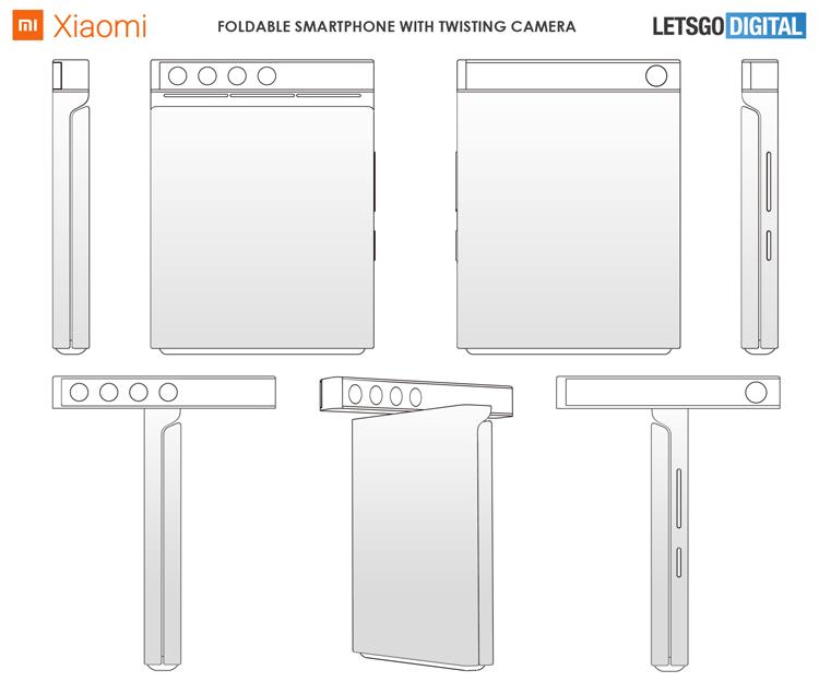 Xiaomi с гибким экраном и поворотной квадрокамерой Xiaomi  - mi2