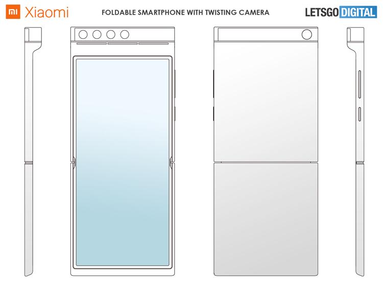 Xiaomi с гибким экраном и поворотной квадрокамерой Xiaomi  - mi3