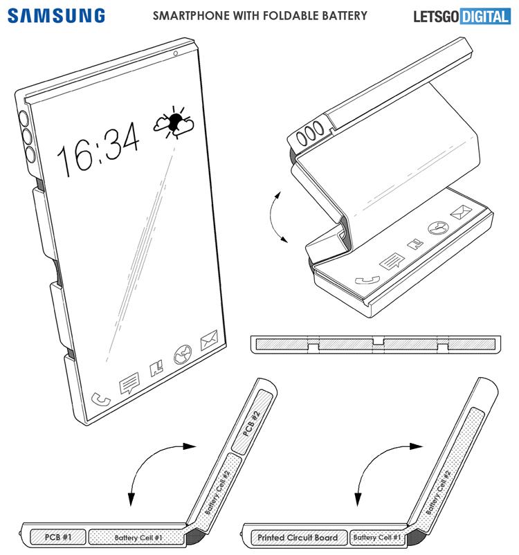 Компания Samsung разрабатывает гибкие аккумуляторы нового типа Samsung  - fold3-1