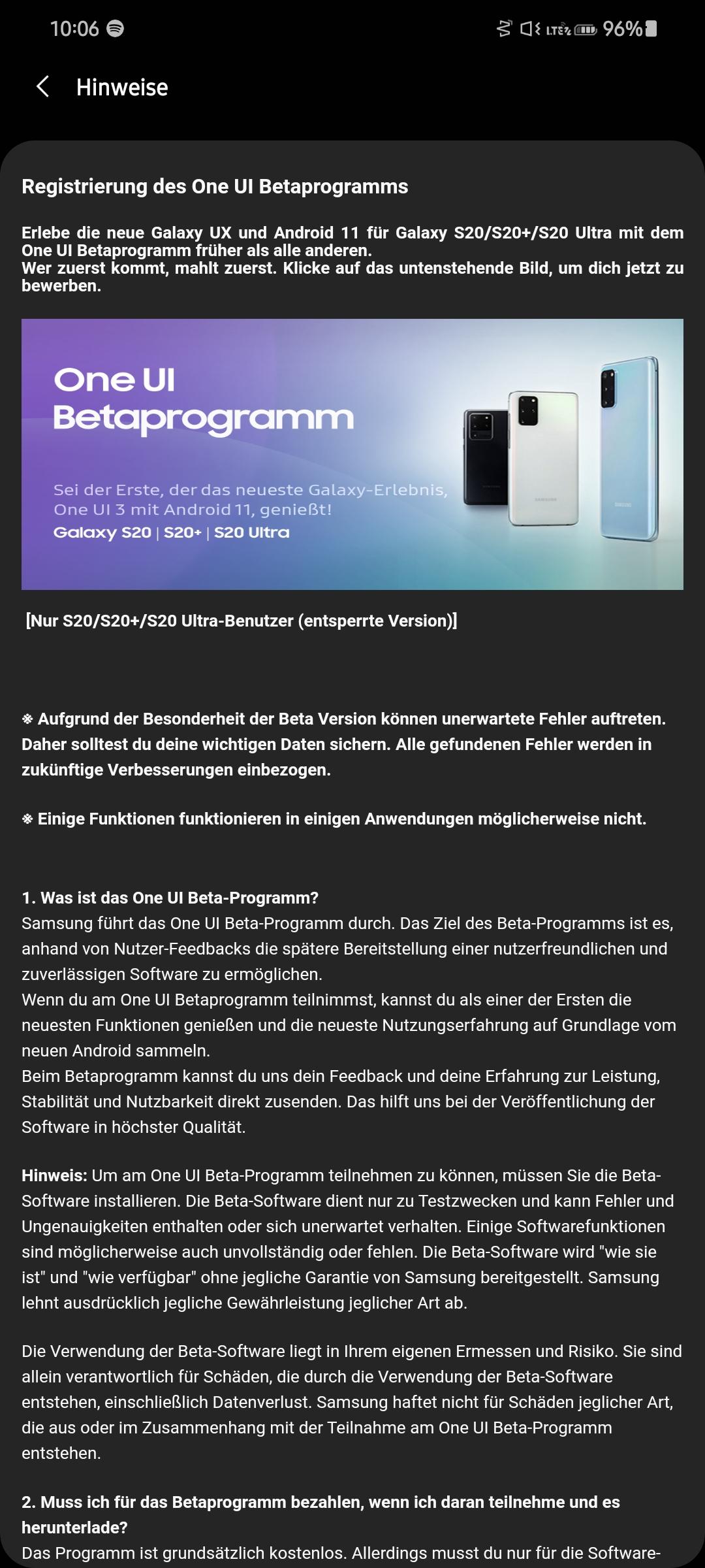 Начато открытое тестирование One UI 3 на Samsung Galaxy S20 Samsung  - samsung_nachala_otkrytoe_testirovanie_one_ui_3_na_galaxy_s20_s_exynos_1