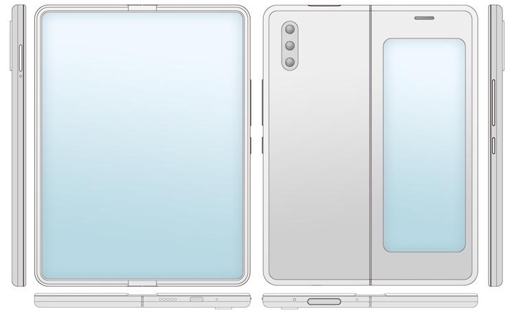 Xiaomi хочет снабдить гибкий смартфон-книжку двумя экранами Xiaomi  - xim3