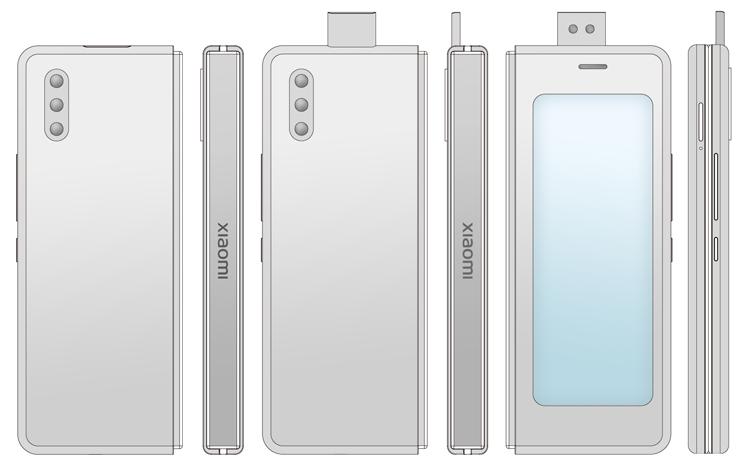 Xiaomi хочет снабдить гибкий смартфон-книжку двумя экранами Xiaomi  - xim4