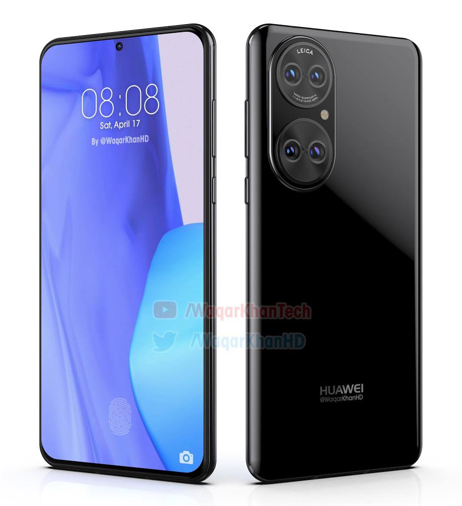Качественные макеты Huawei P50 Huawei  - huawei_p50_pokazalsa_na_realistichnyh_renederah_video_1