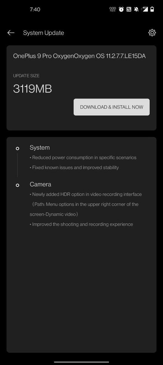 OnePlus 9 и 9 Pro: обновление улучшит камеры и автономность Другие устройства  - oneplus_9_poluchili_perekluchatel_hdr_video_picture2_0