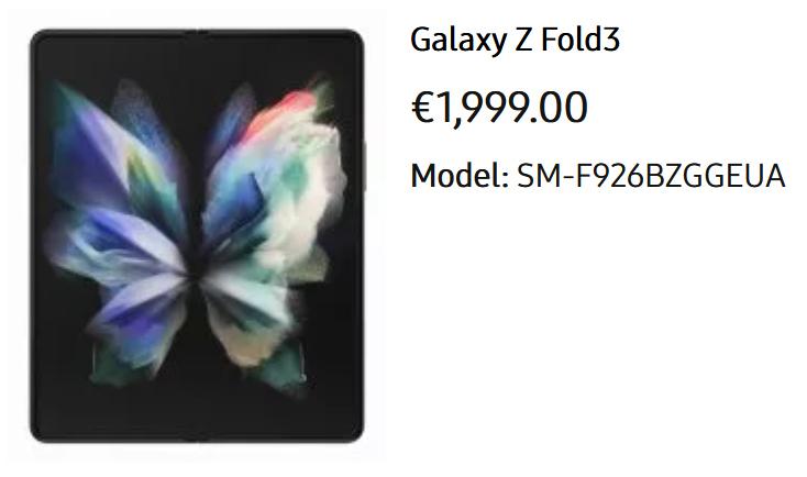 Стоимость Samsung Galaxy Z Fold 3, Z Flip 3, Watch 4 и Buds 2 Samsung  - cena_samsung_z_galaxy_fold_3_z_flip_3_watch_4_i_buds_2_v_evrope_1