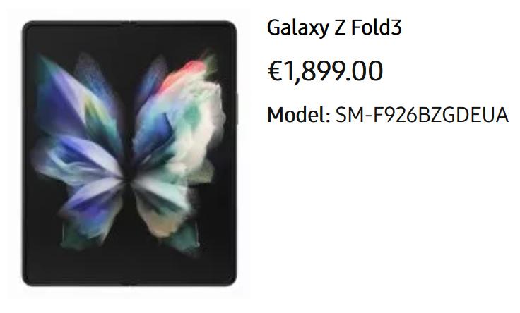Стоимость Samsung Galaxy Z Fold 3, Z Flip 3, Watch 4 и Buds 2 Samsung  - cena_samsung_z_galaxy_fold_3_z_flip_3_watch_4_i_buds_2_v_evrope_2